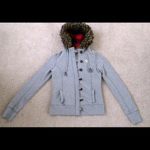 abercrombie and fitch Fur Hooded Small